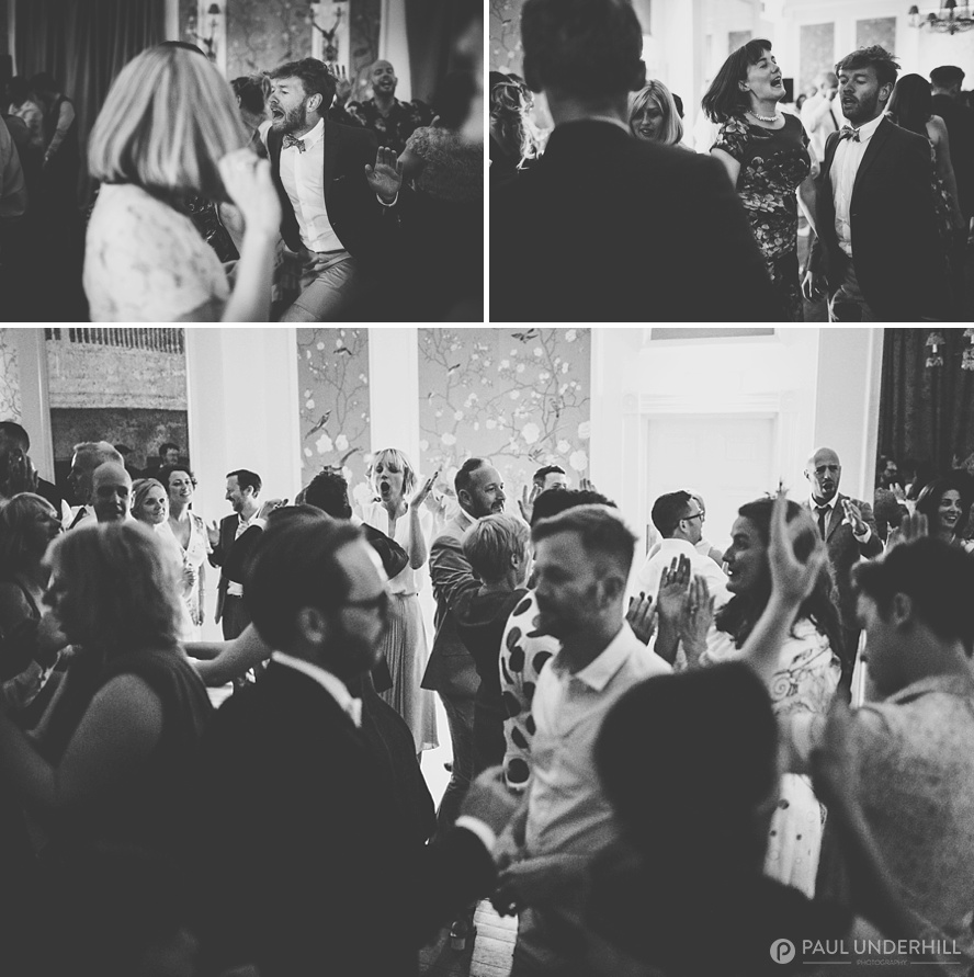 Creative black and white wedding post production