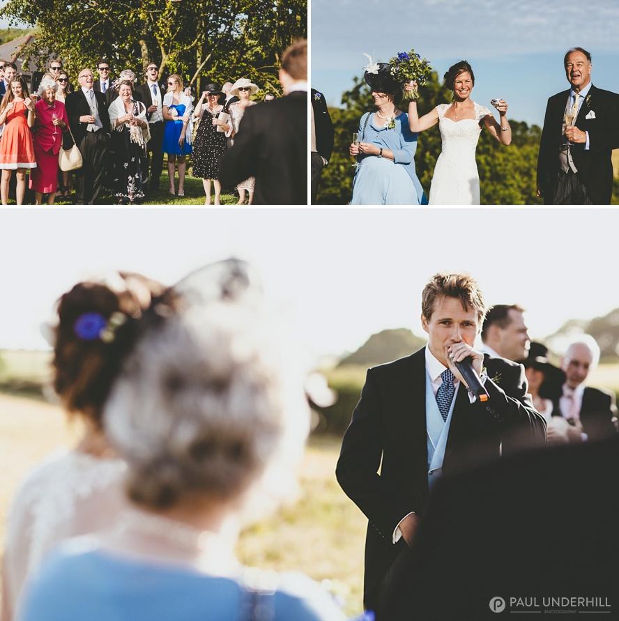 Creative candid wedding photography
