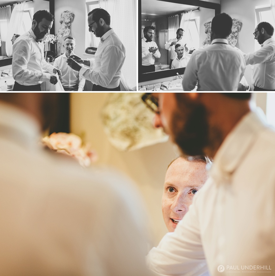 Creative documentary wedding photography