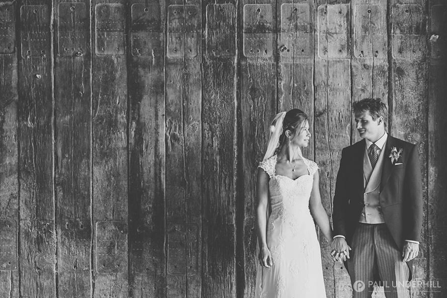 Creative portrait of bride and groom