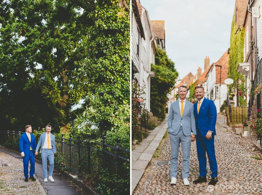 Creative portraits gay wedding