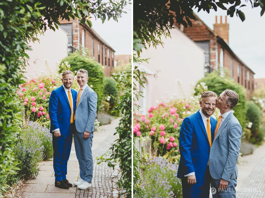 Creative wedding portraits same sex couple