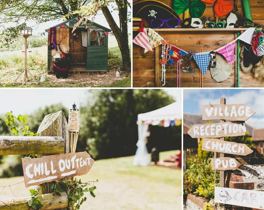 DIY home wedding in Dorset