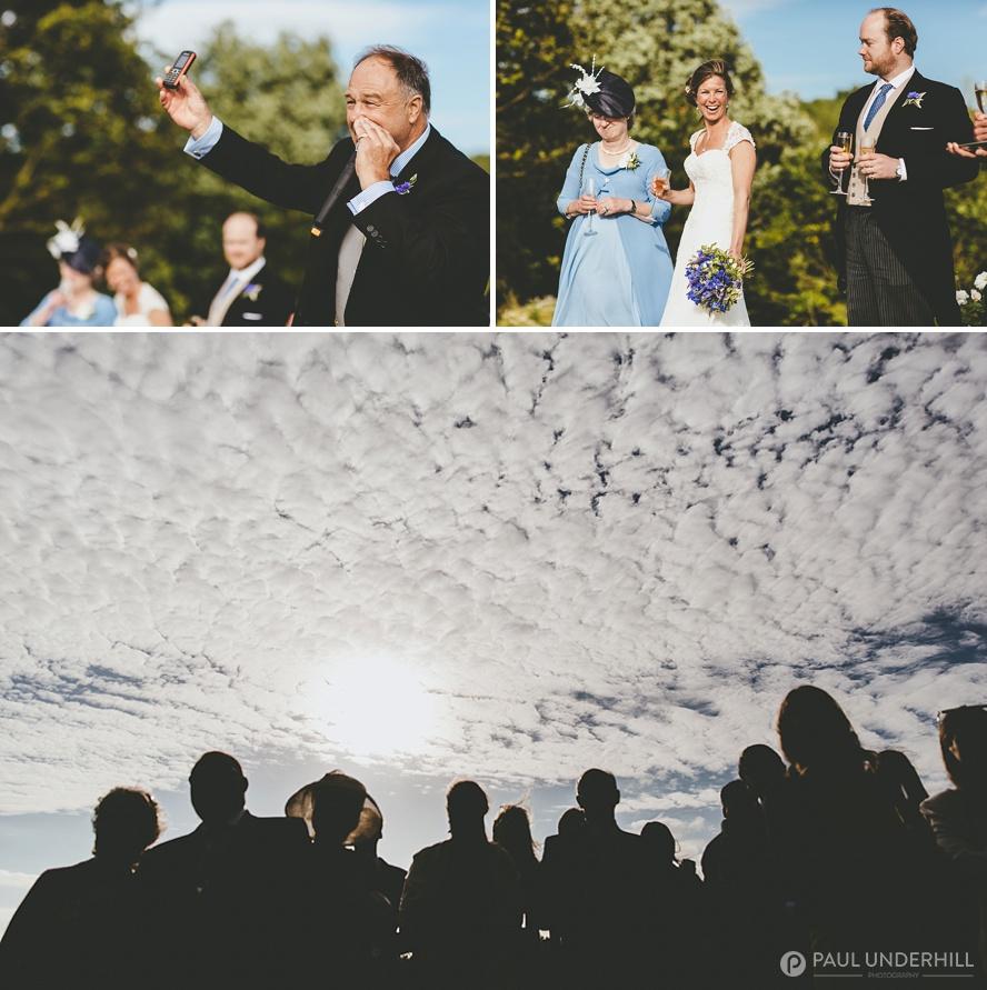 Documentary photography of wedding speech