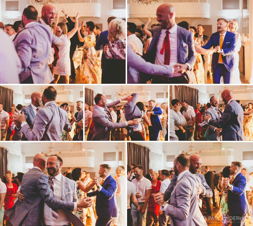 Documentary wedding photography dancing sequence