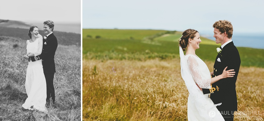 Dorset countryside wedding portraits