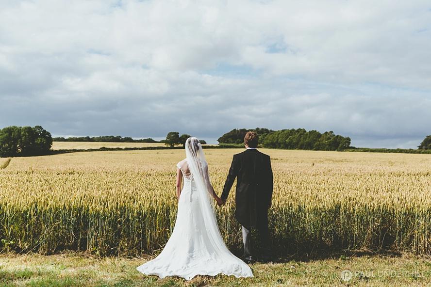 Dorset farm wedding portrait