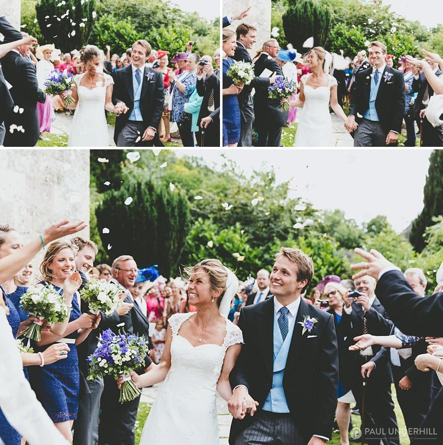 Dorset wedding confetti throwing