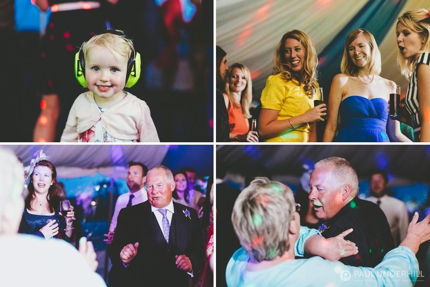 Dorset wedding marquee reception