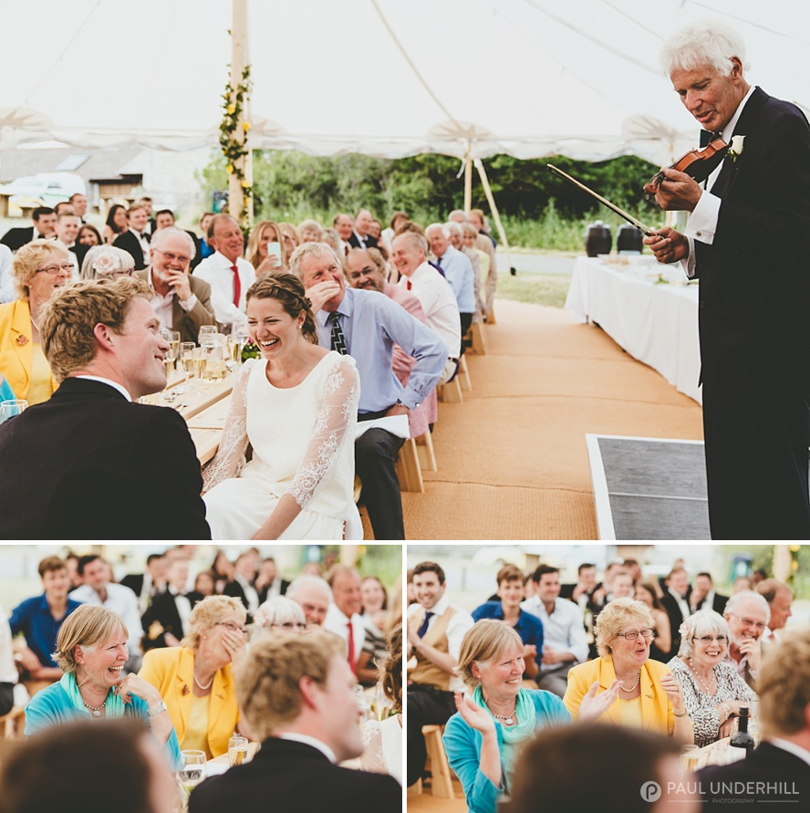 Durlston Country Park marquee wedding