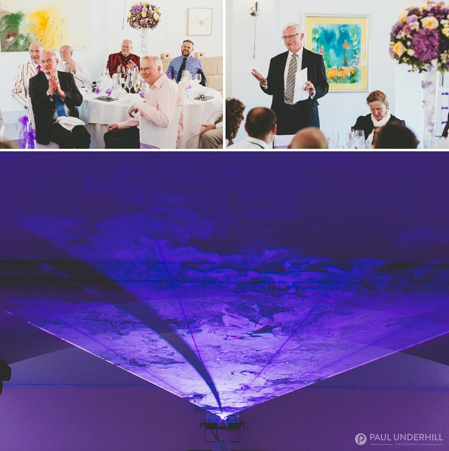 Evening wedding celebrations Italian Villa