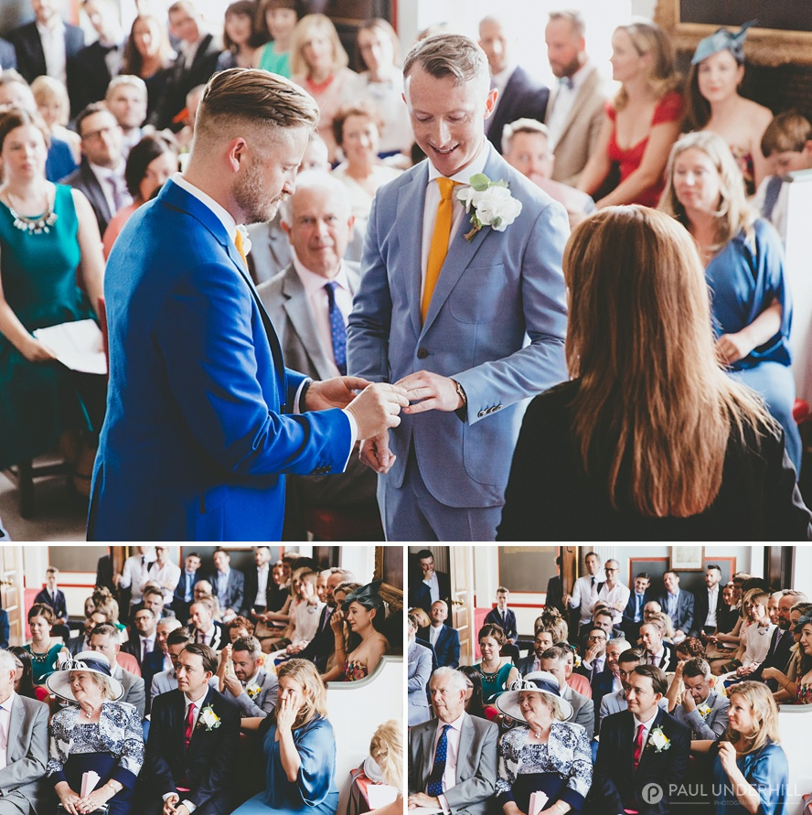Exchange of ring s gay wedding