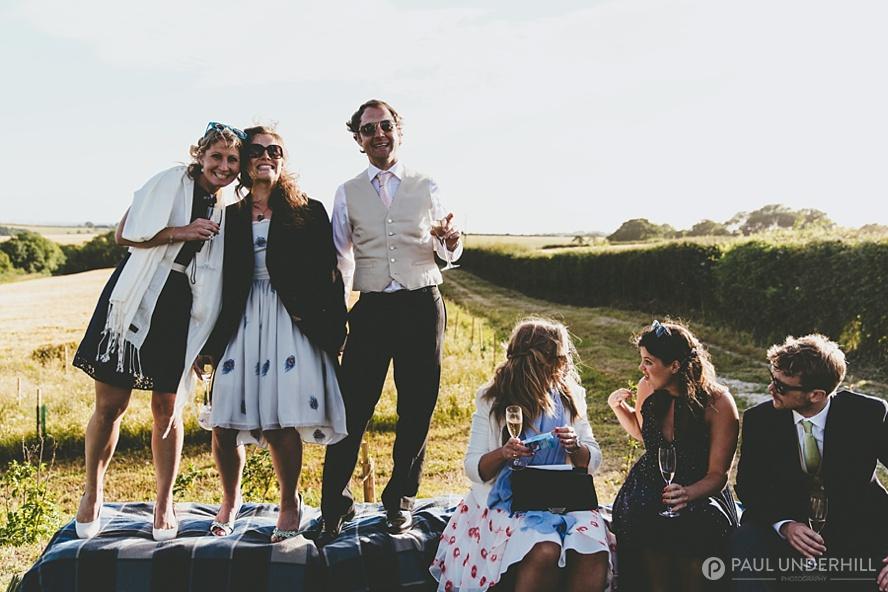 Fun photos of wedding guests