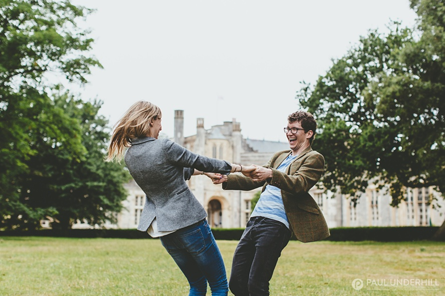Fun pre wedding shoot at Highcliffe Castle