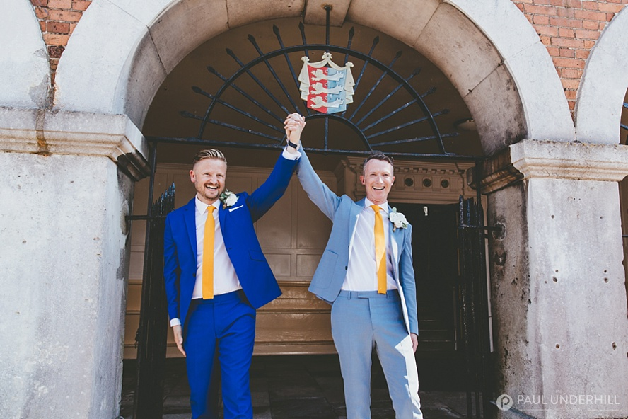 Gay couple celebrate marriage