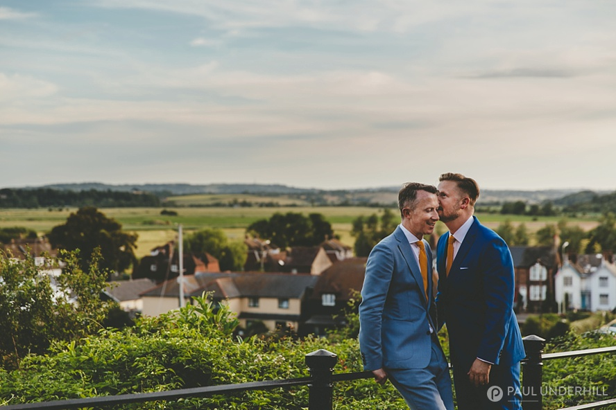 Gay couple wedding photography
