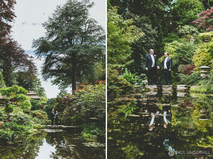 Gay wedding grooms portrait