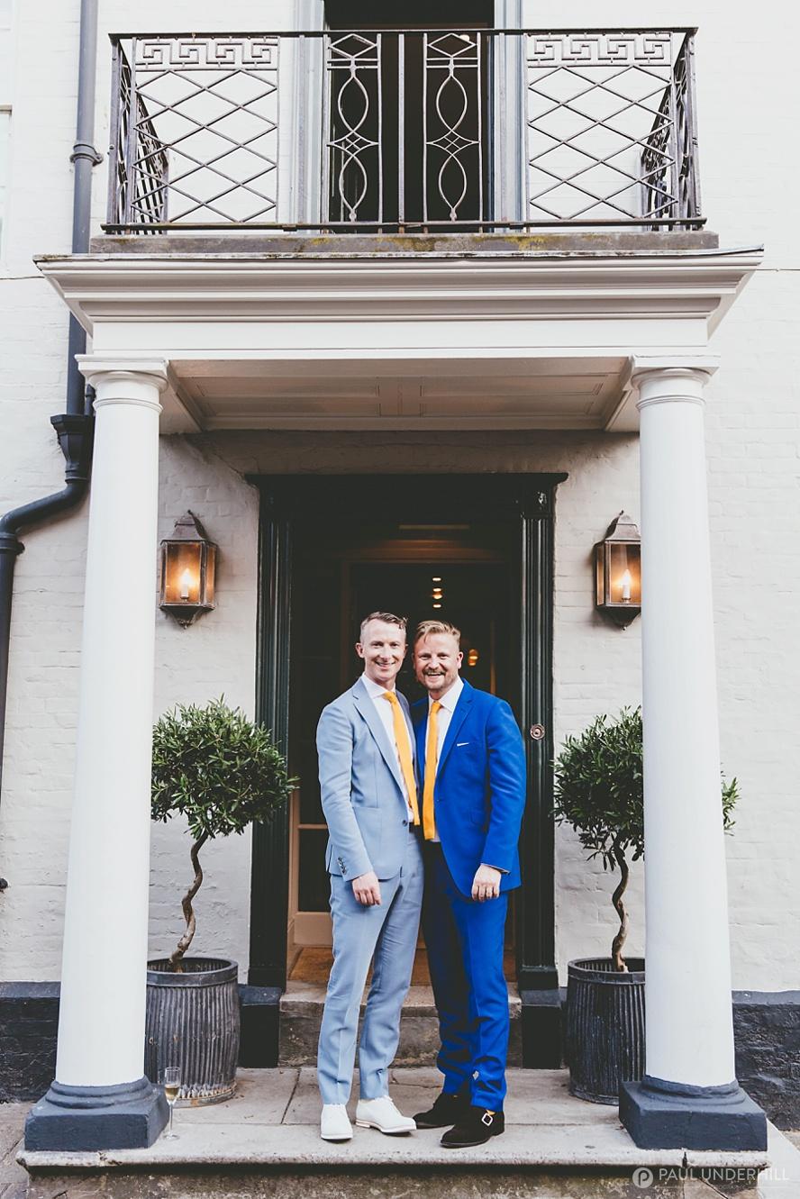 Gay wedding portrait George Hotel Rye