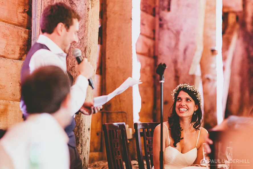 Groom makes speech Dorset wedding
