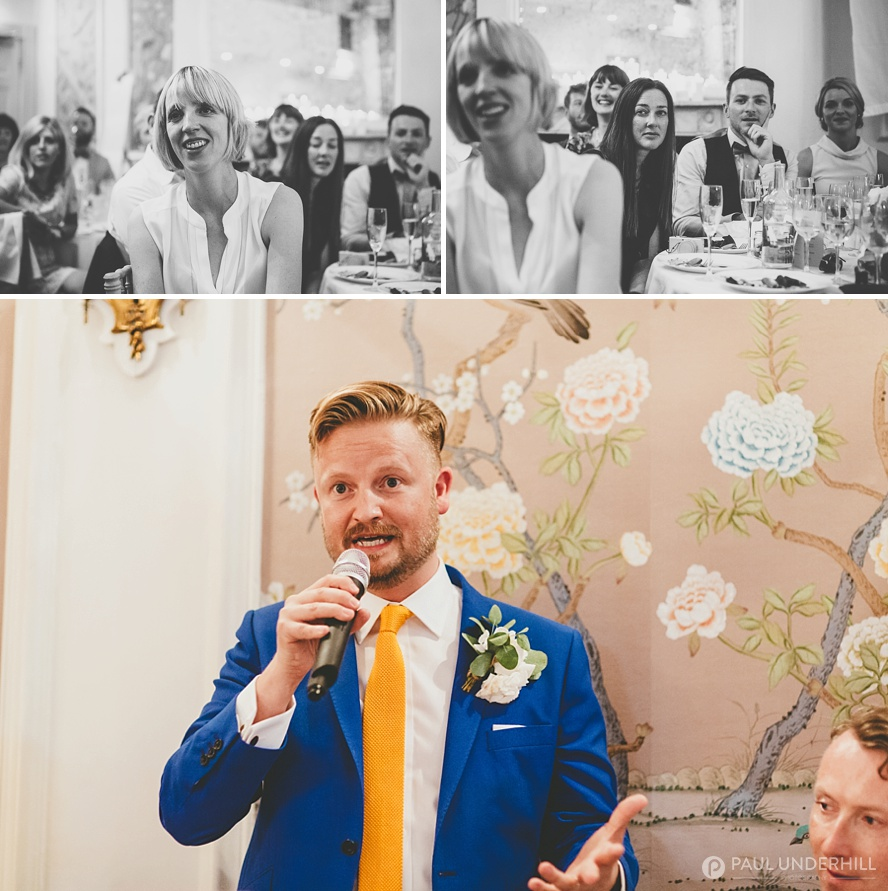 Groom makes speech about gay marriage