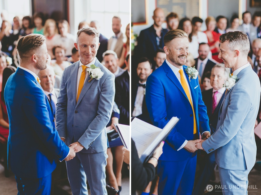 Grooms getting married