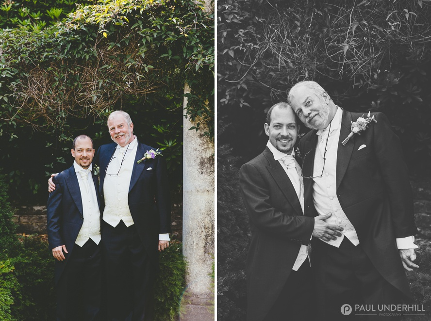 Grooms portrait gay wedding