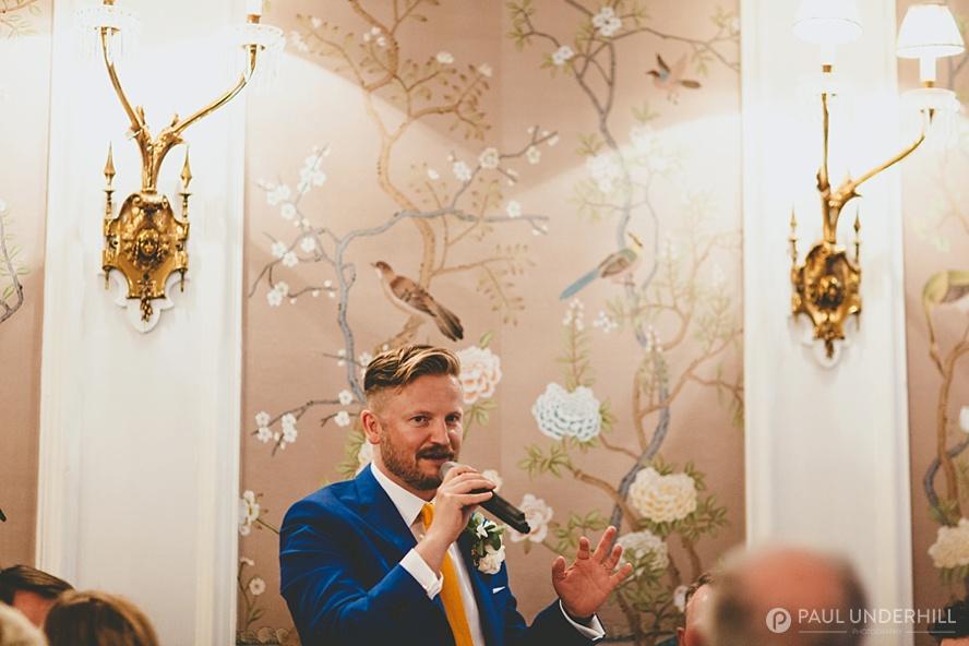 Grooms speech George hotel wedding