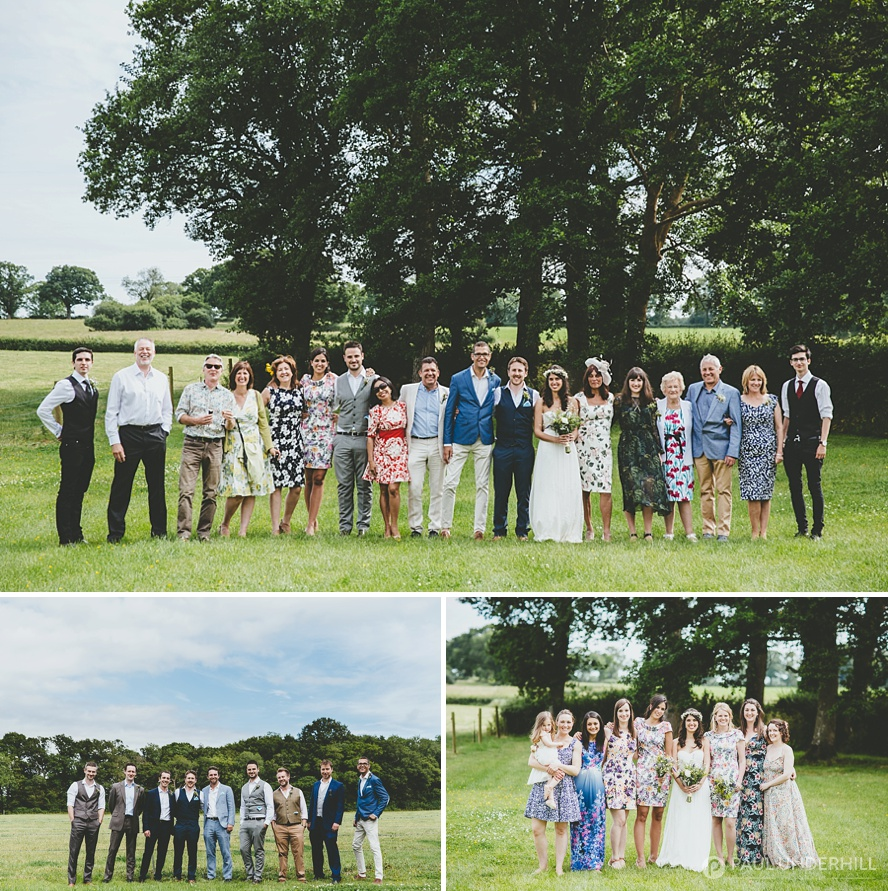 Group portraits Dorset wedding