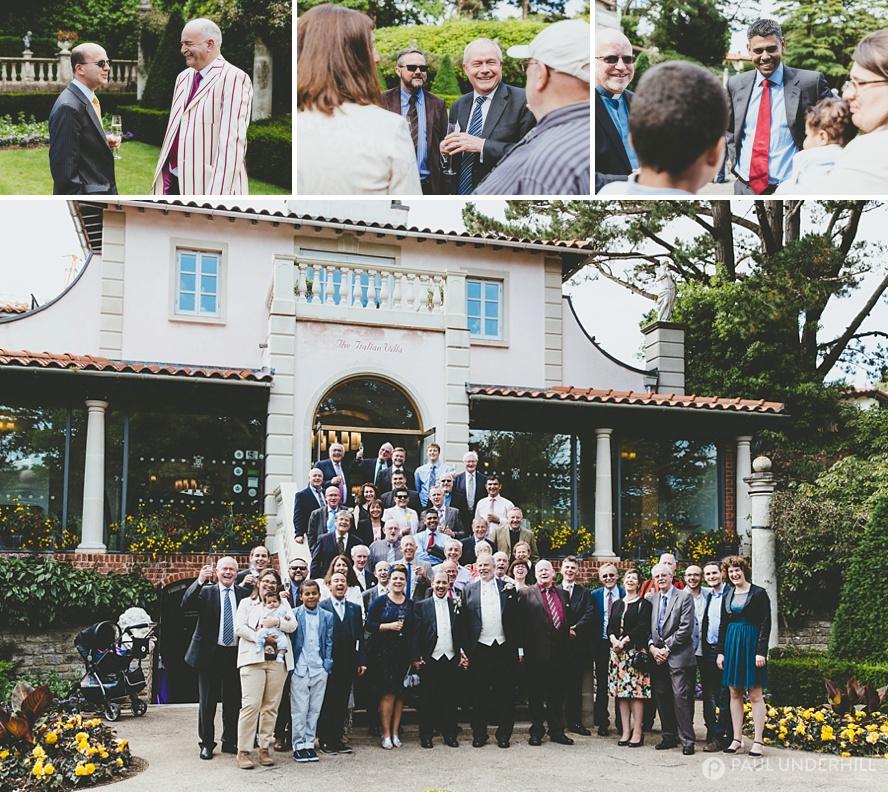 Italian Villa Poole wedding portraits