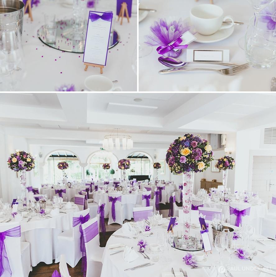 Italian Villa Poole wedding reception