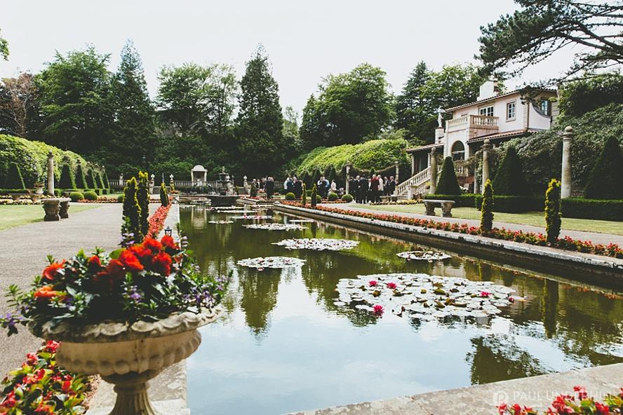 Italian Villa view over the garden