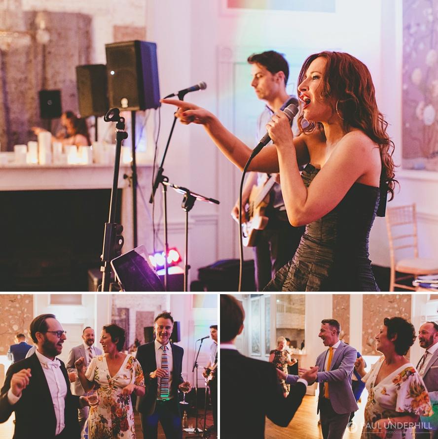 Live band at gay wedding