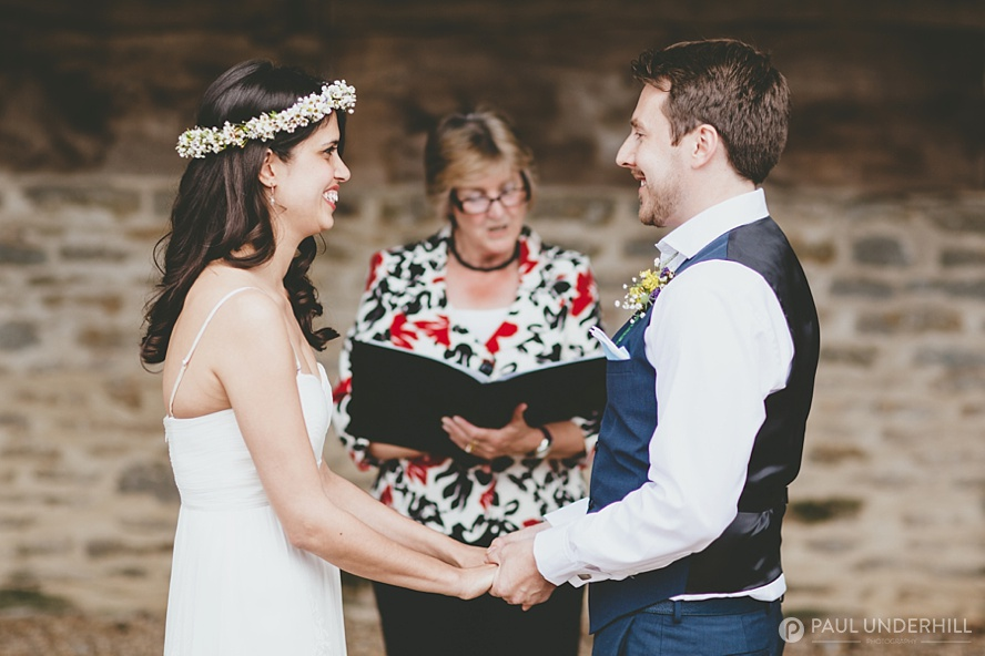 Lower Stockbridge Farm wedding ceremony