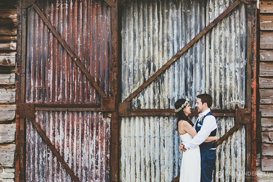 Lower Stockbridge Farm wedding portrait