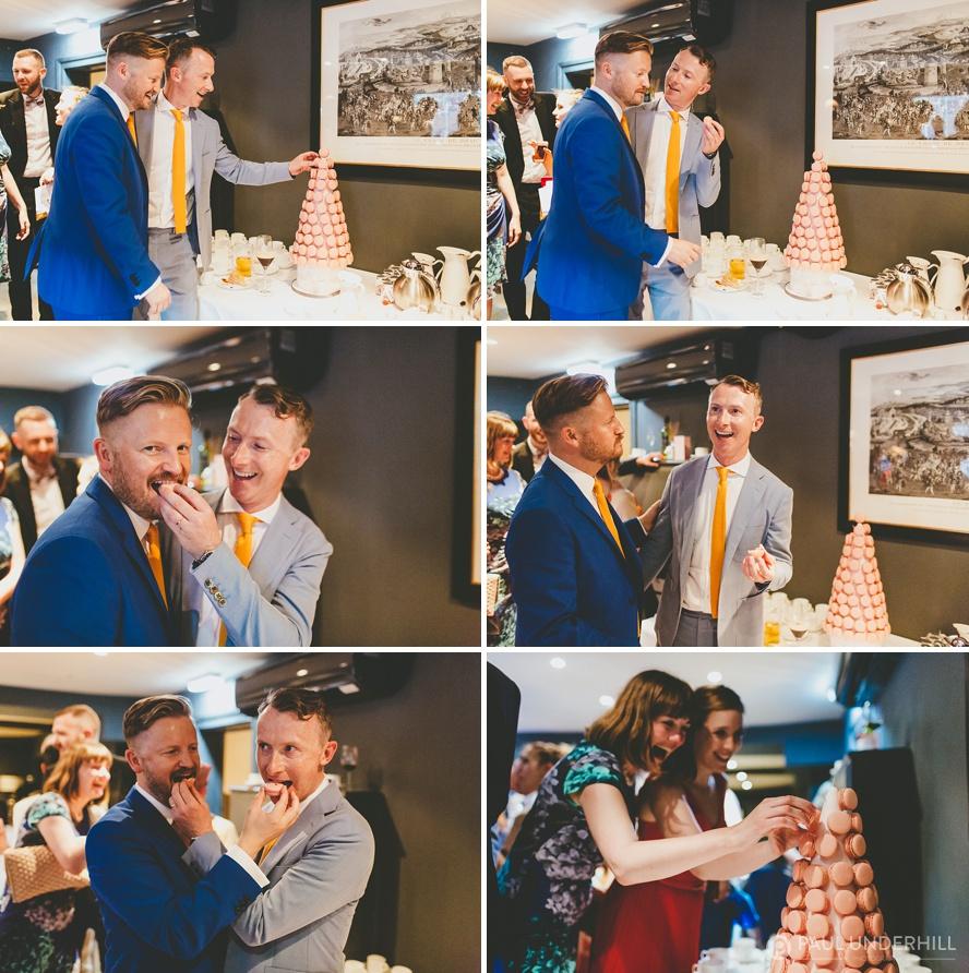Macaroon gay wedding cake
