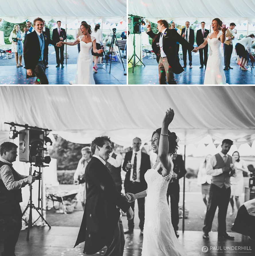 Marquee wedding in Dorset first dance