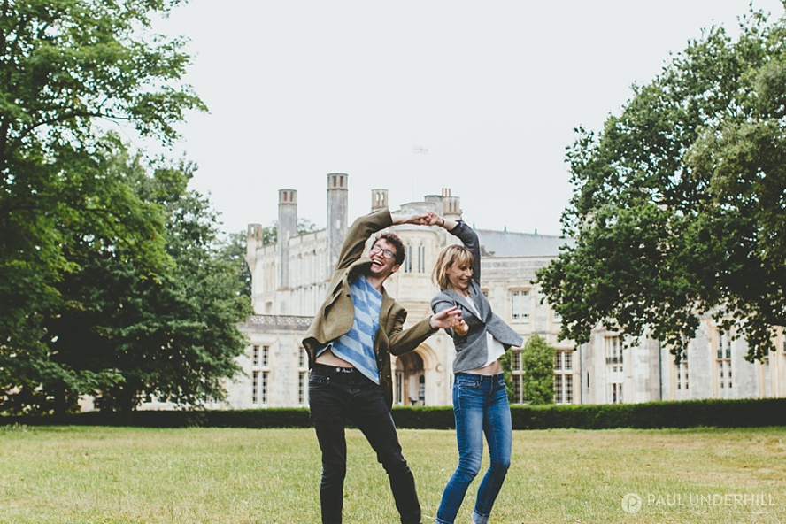 Outdoor portraits Highcliffe Castle grounds
