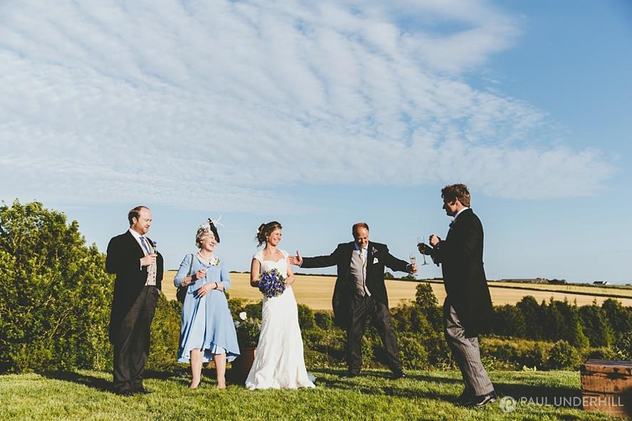 Outdoor summer home wedding