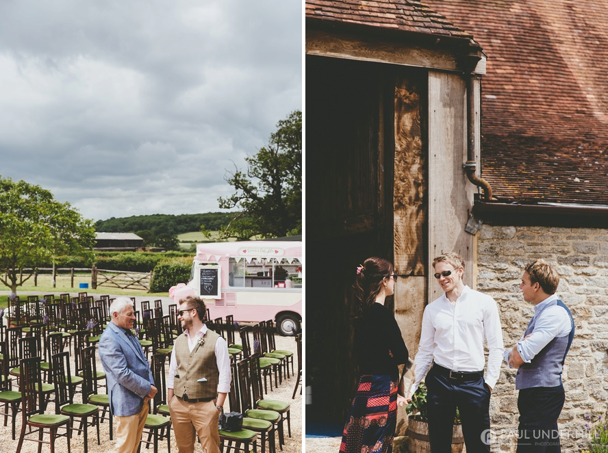 Outdoor wedding in Dorset