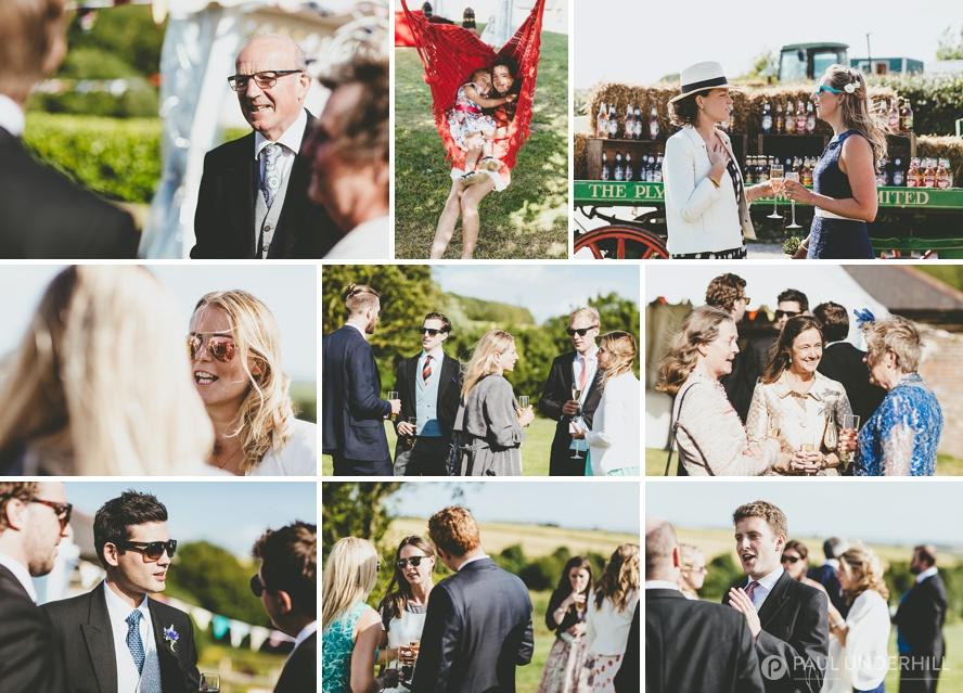 Outdoor wedding reception in Dorset