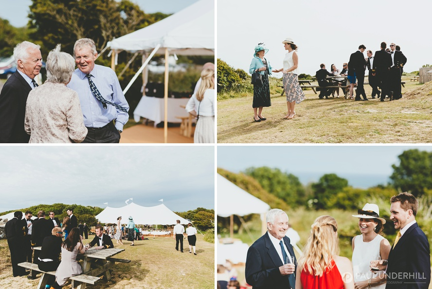 Reportage photography Durlston Country Park wedding