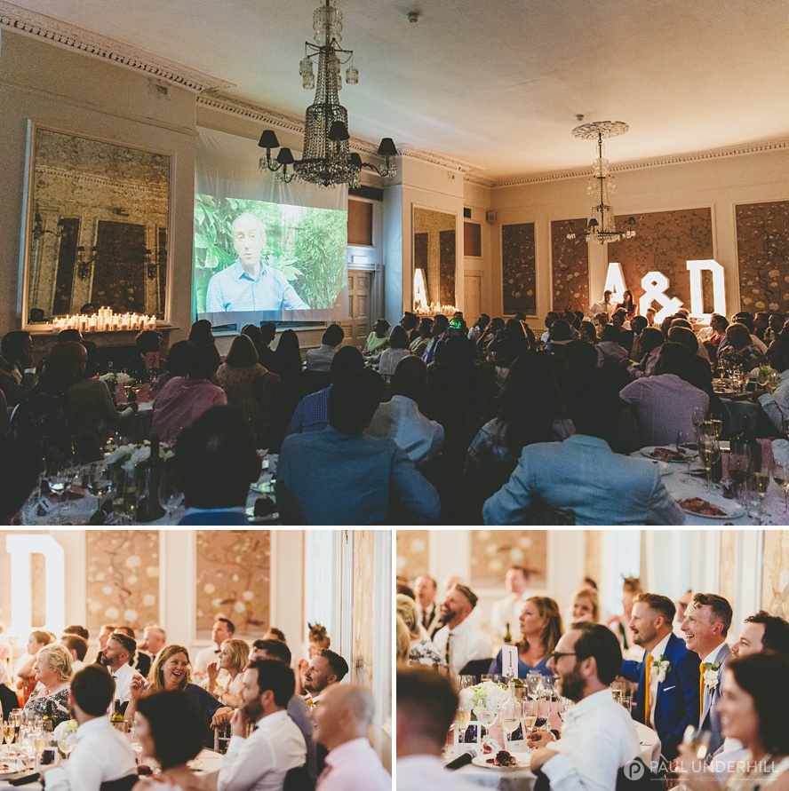 Reportage photography wedding speeches