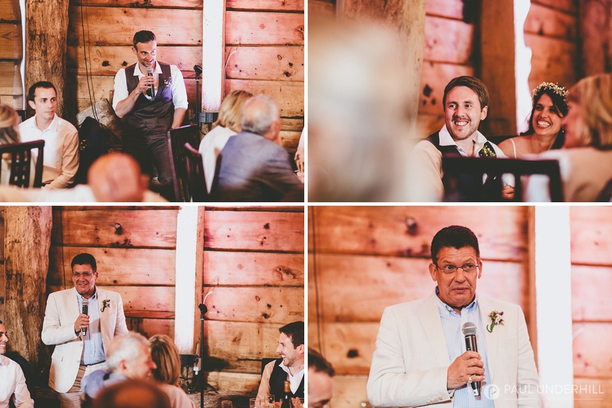 Speeches at Dorset wedding
