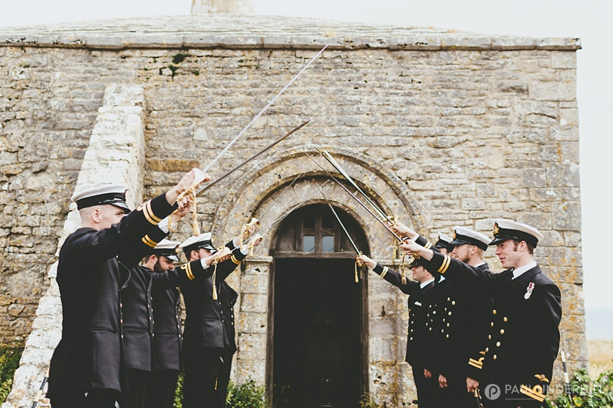 St Aldhelms Chapel Navy honour guard