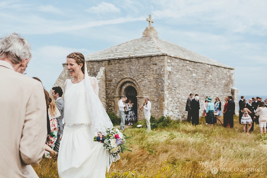 St Aldhelms Chapel wedding in Dorset