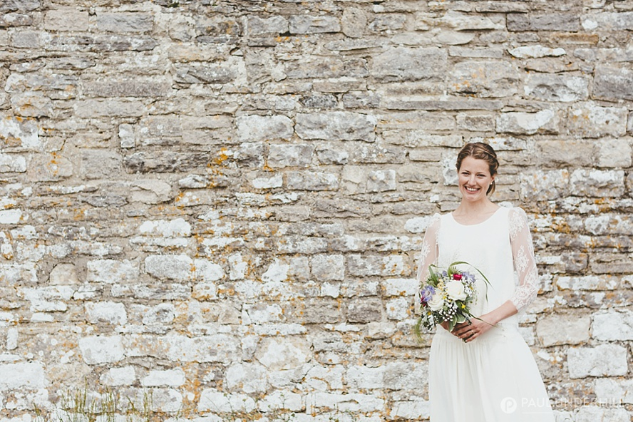 St Aldhelms Chapel wedding portrait