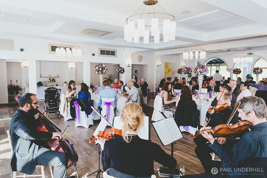String quartet play at Italian Villa Poole