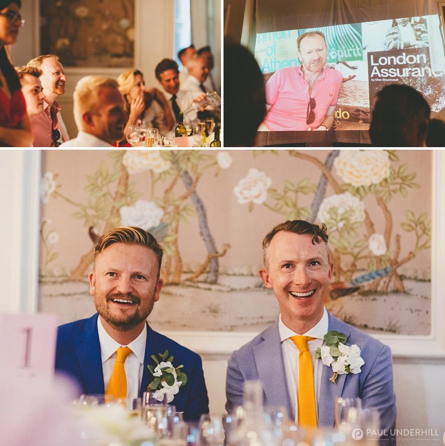 TV actor at gay wedding London