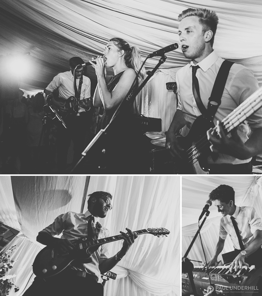 The One Night Band at Dorset wedding