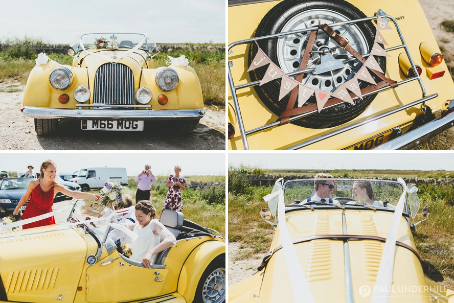 Unusual wedding cars yellow